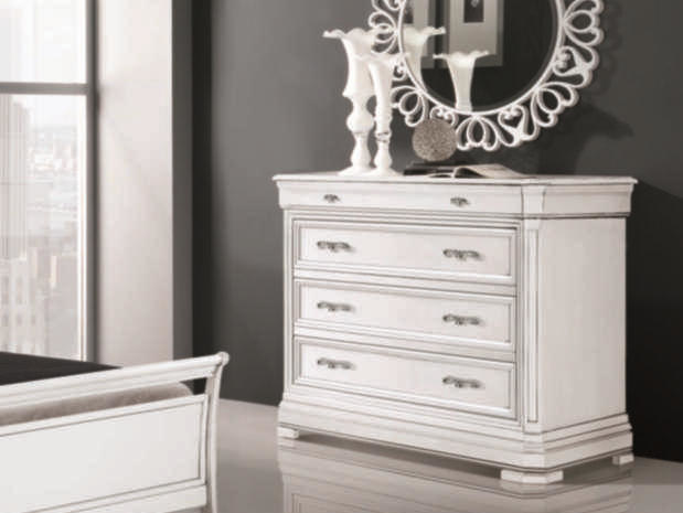 Lacquered solid wood dresser CAPRI | Lacquered dresser - Arvestyle