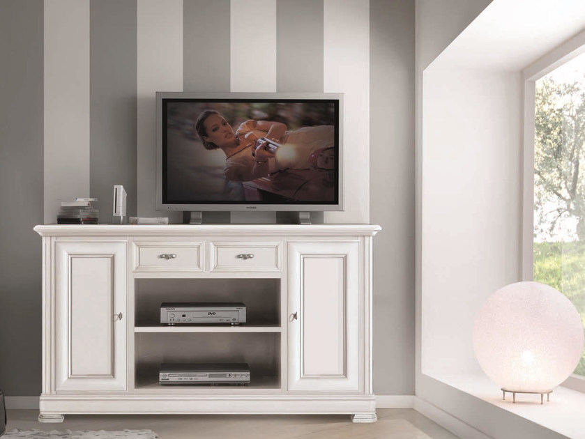 Solid wood TV cabinet with drawers CAPRI | TV cabinet - Arvestyle
