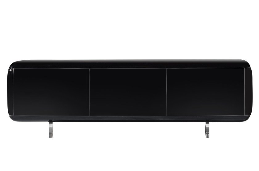 Lacquered resin sideboard with doors CAPSULE - ROCHE BOBOIS