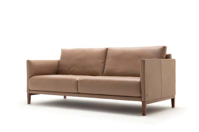 cara sofa aus leder kollektion cara by rolf benz design. Black Bedroom Furniture Sets. Home Design Ideas