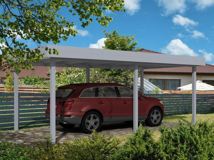 Carport Carport with flat roof by Gardendreams