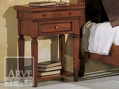Rectangular solid wood bedside table CASANOVA | Bedside table by Arvestyle