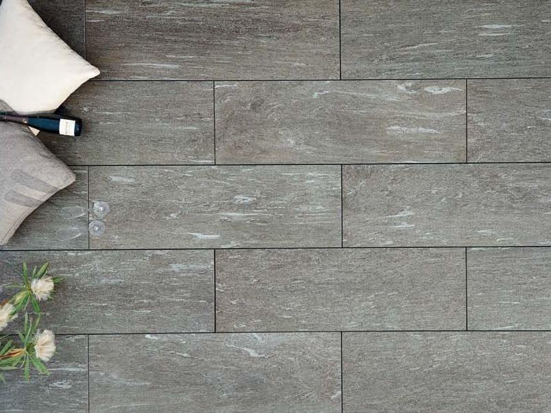 Outdoor floor tiles with stone effect CALANCA DARK - GRANULATI ZANDOBBIO