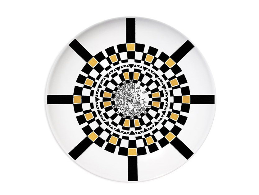 Ceramic dinner plate CASTLE - Kiasmo