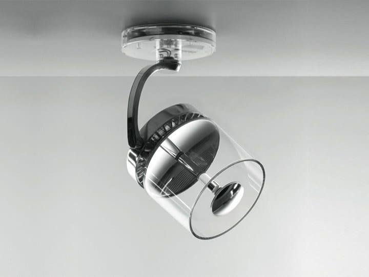 LED ceiling die cast aluminium spotlight CATA CATADIOPTRIC | Ceiling spotlight by Artemide