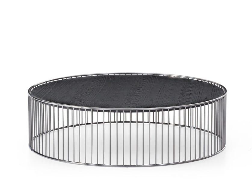 Coffee table CAULFIELD BLACK NICHEL by Minotti