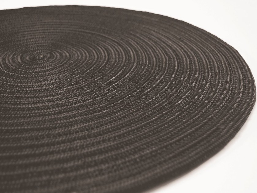 Handmade round rug CAYMAN PLAIN - Besana Moquette