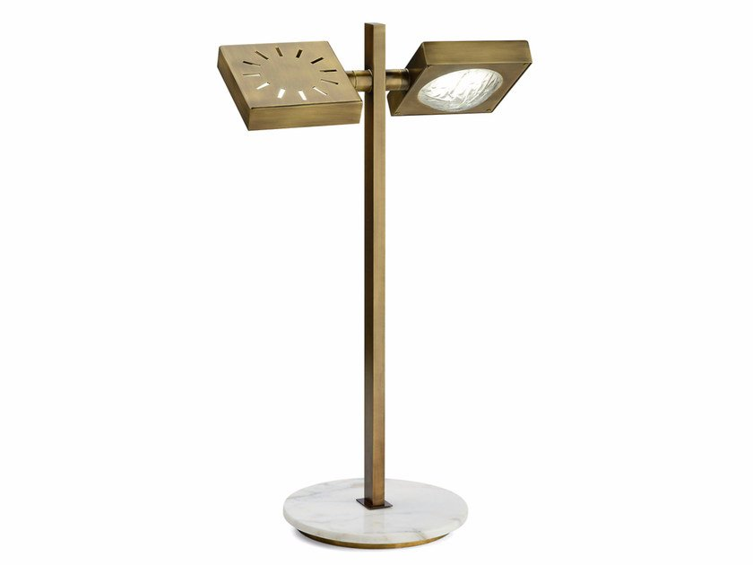 LED adjustable brass table lamp CECILE | Adjustable table lamp - MARIONI