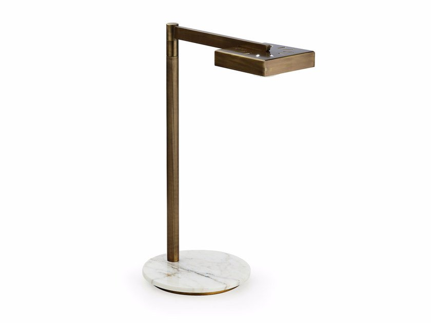LED adjustable brass table lamp CECILE | Table lamp - MARIONI