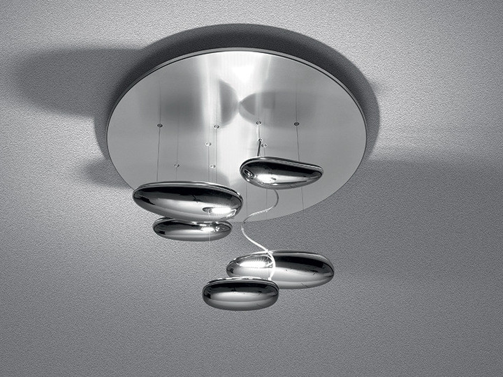 Indirect light stainless steel ceiling lamp MERCURY MINI | Ceiling lamp - Artemide