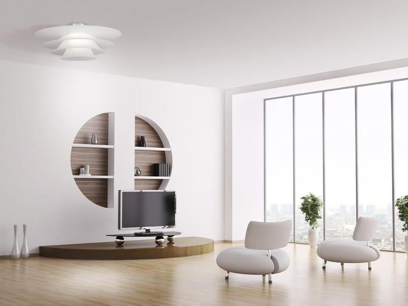 Glass ceiling light PLATES   Ceiling lamp - Cattaneo Illuminazione