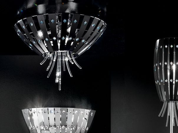 Metal ceiling lamp with Swarovski® crystals EMOTION | Ceiling lamp - IDL EXPORT