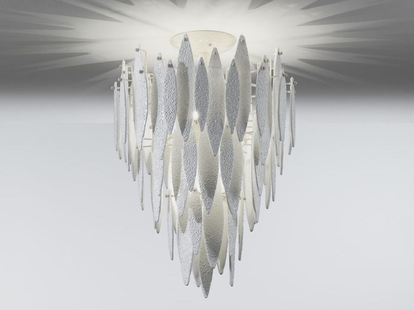 Murano glass pendant lamp ICE RAIN | Pendant lamp by IDL EXPORT