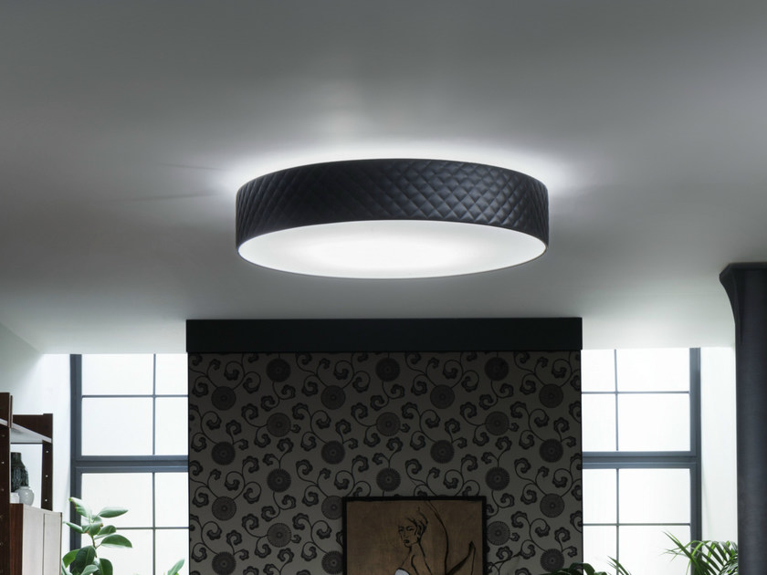 Imitation leather ceiling lamp MARIÙ | Ceiling lamp - LUCENTE - Gruppo Rostirolla
