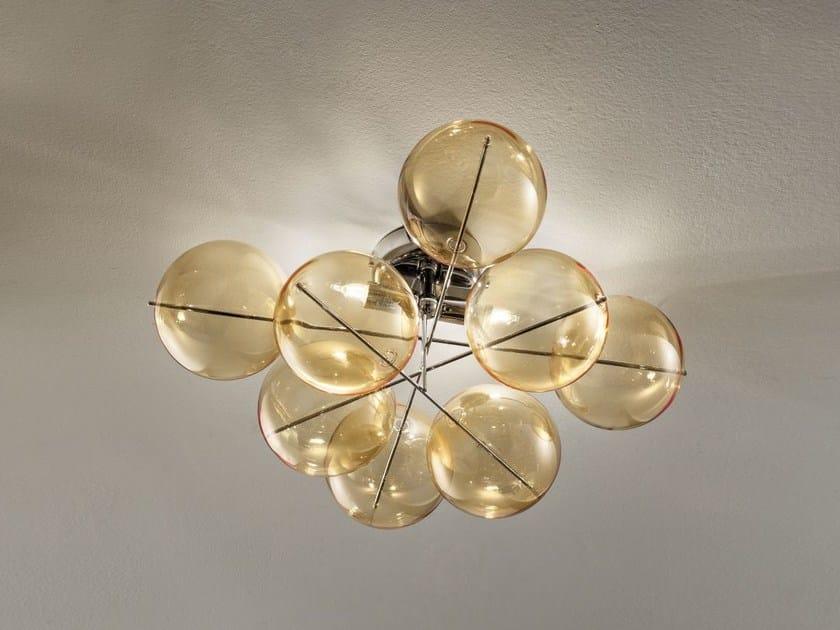 Lampada da soffitto in cristallo ATOM Ø 40 | Lampada da soffitto - Metal Lux di Baccega R. & C.