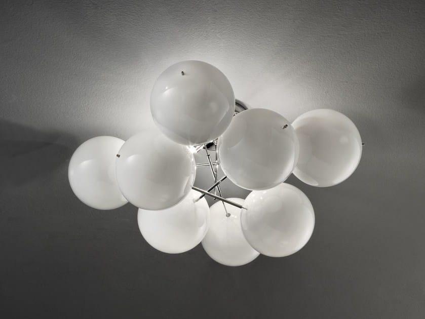 Lampada da soffitto in cristallo ATOM Ø 55 - Metal Lux di Baccega R. & C.