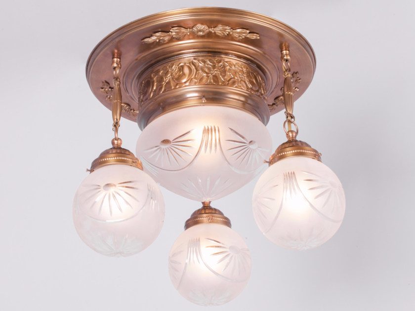Brass ceiling lamp PECS | Ceiling lamp - Patinas Lighting