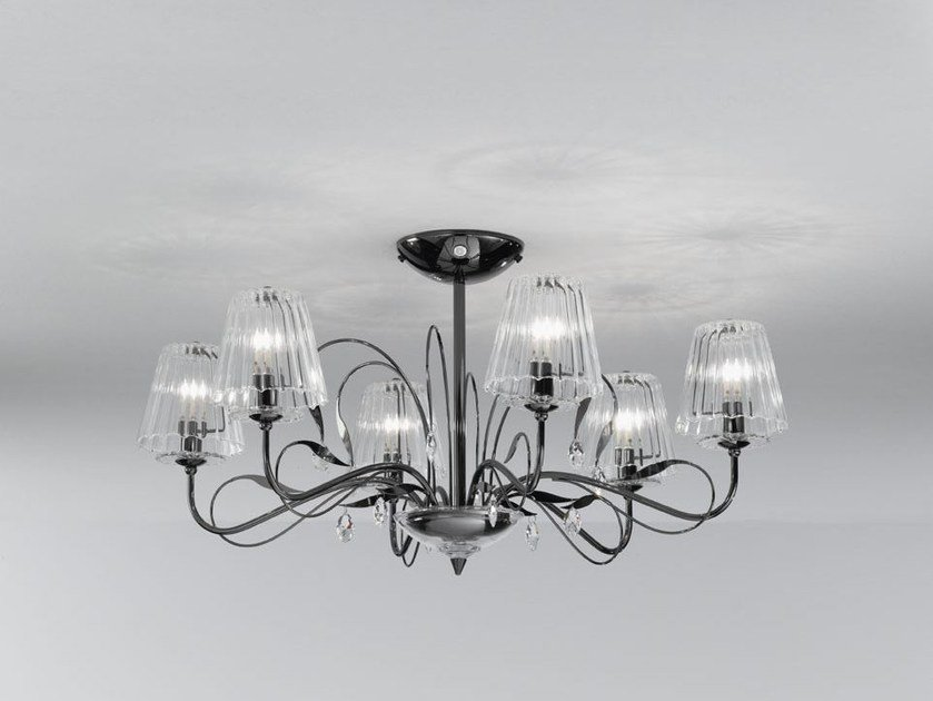 Ceiling light with Swarovski® crystals CHLOÈ | Ceiling light - IDL EXPORT