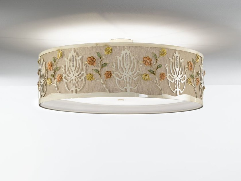 Fabric ceiling light with Swarovski® crystals MARGOT | Ceiling light - IDL EXPORT