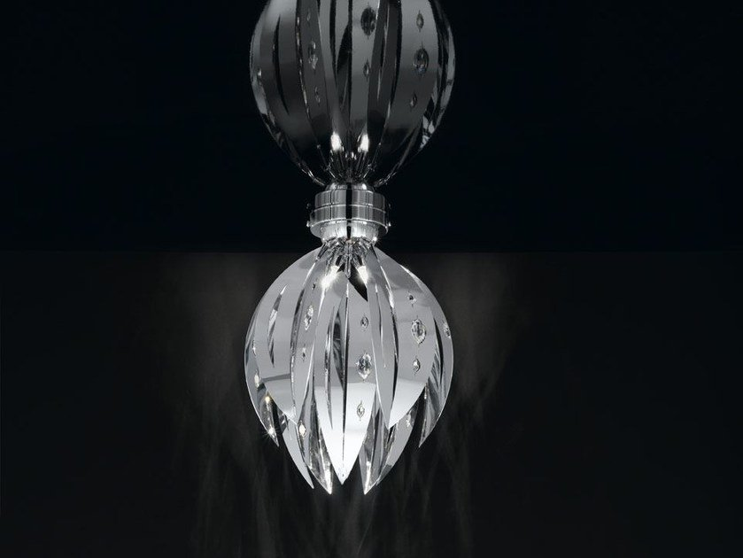 Metal ceiling light with Swarovski® crystals CRYSTAL PALM | Ceiling light - IDL EXPORT