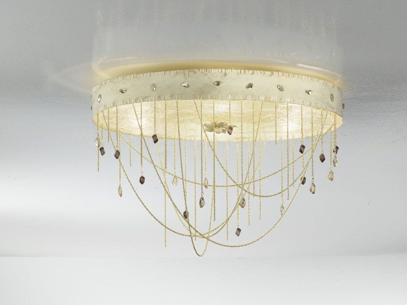 Metal ceiling light with Swarovski® crystals HERITAGE | Ceiling light - IDL EXPORT
