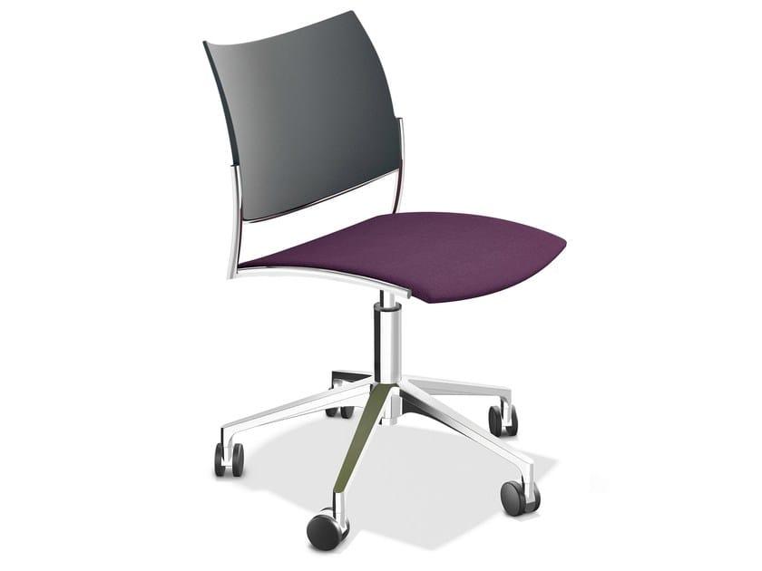 Cello-plastic backrest-upholstered seat