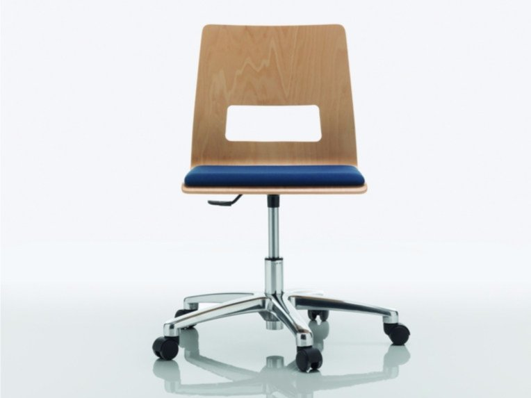 Swivel chair with 5-spoke base CELSIUS | Chair with 5-spoke base by Quadrifoglio