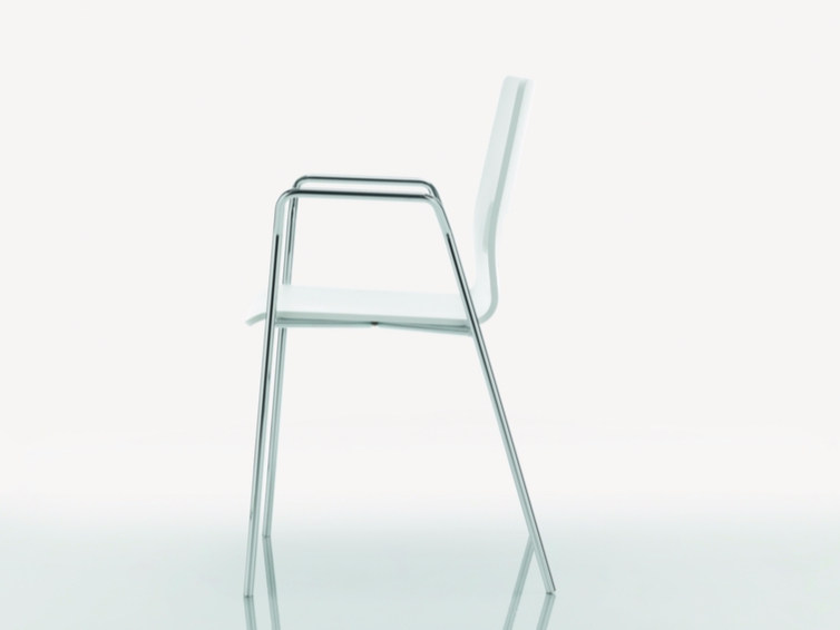Multi-layer wood chair with armrests CELSIUS | Chair with armrests - Quadrifoglio Sistemi d'Arredo