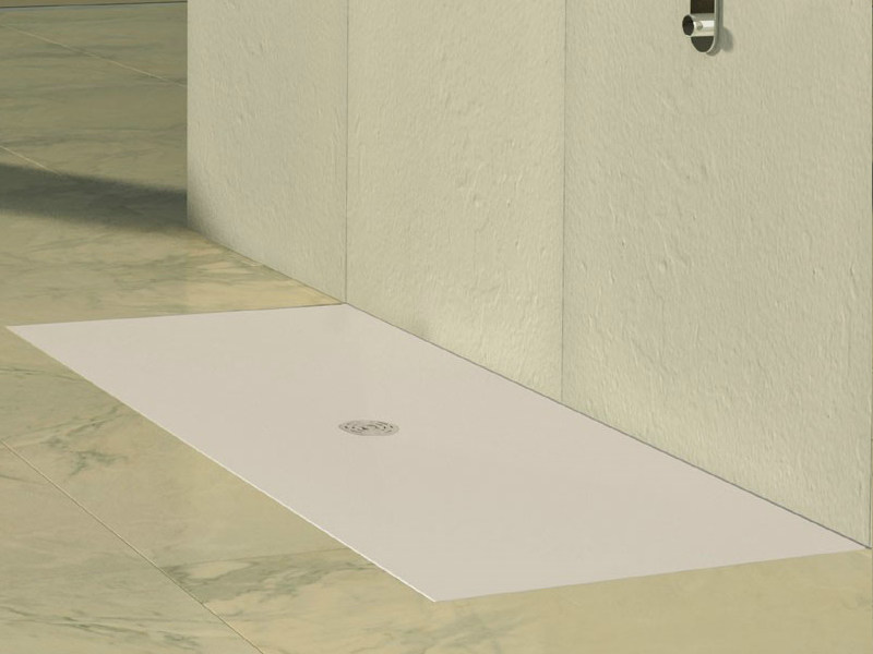 Flush fitting rectangular shower tray CENTER WHITE by Alice Ceramica