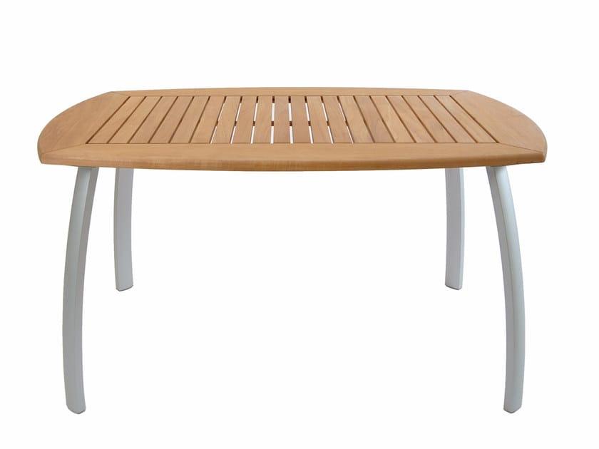 Tavolo da giardino rettangolare in teak CENTRO | Tavolo rettangolare - FISCHER MÖBEL