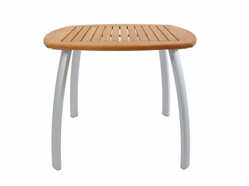 Square teak garden table CENTRO | Square table - FISCHER MÖBEL