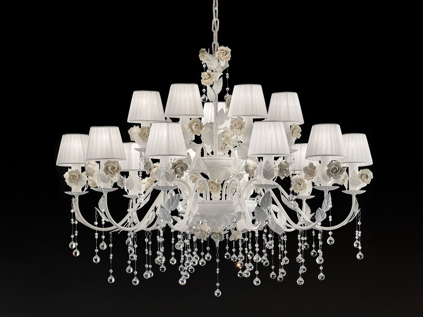 Direct light metal chandelier CERAMIC GARDEN | Chandelier by Masiero