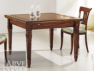 Extending solid wood table CESARE | Square table - Arvestyle