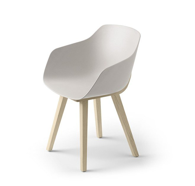 Eco plastic chair with armrests KUSKOA BI | Chair - ALKI