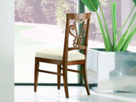 Sedia imbottita con schienale aperto NAIMA | Sedia in legno massello by Arvestyle