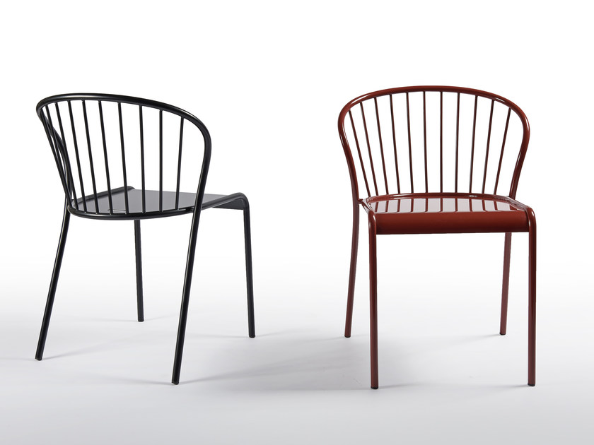 Painted metal chair CANNET | Chair by Atipico