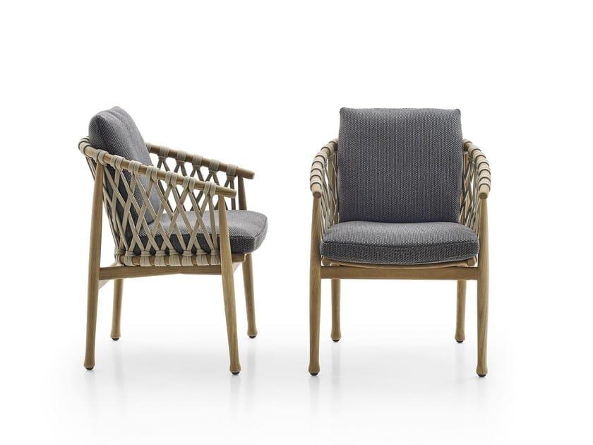 Sedia da giardino con braccioli ginestra sedia b b for Sedia b b