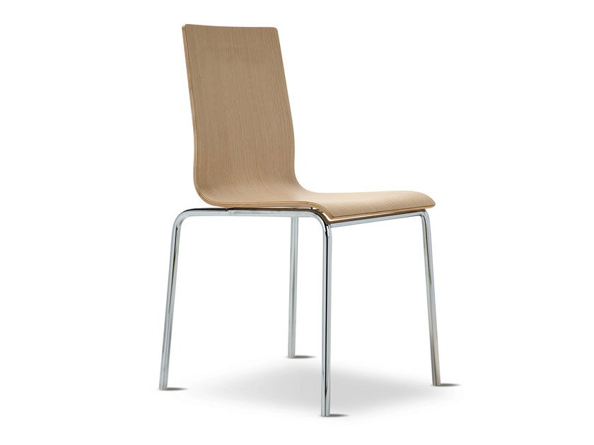 Stackable multi-layer wood chair SYN | Chair - Domingo Salotti