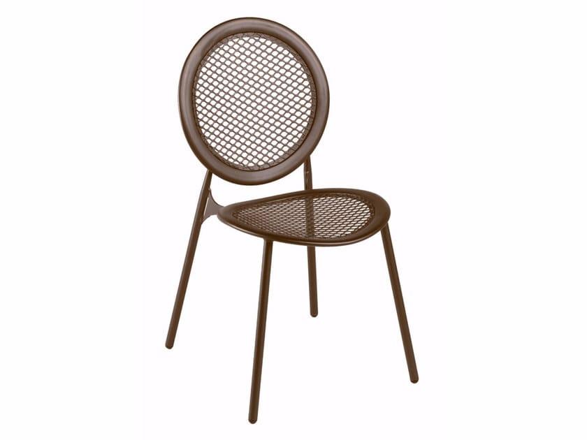 Sedia da giardino impilabile in acciaio ANTONIETTA | Sedia - EMU Group S.p.A.