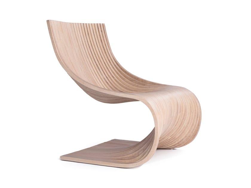 Cantilever Banak wood chair FEELING | Chaise longue - Compagnie Française de l'Orient et de la Chine