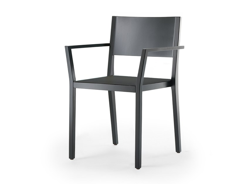Stackable solid wood chair with armrests BONNIE & CLYDE   Chair with armrests by rosconi