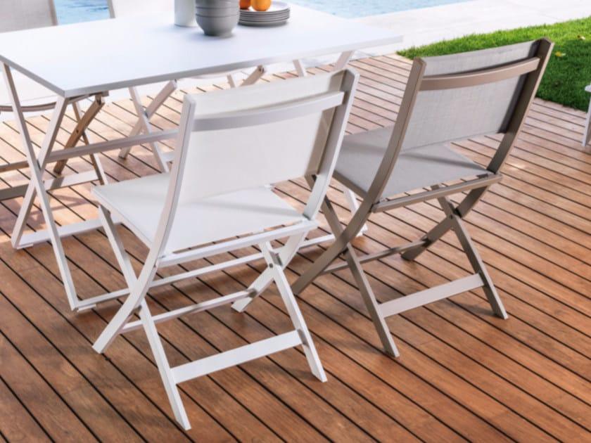 Folding textilene garden chair QUEEN | Chair by Talenti