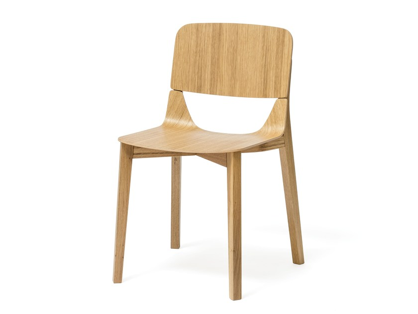 Wooden chair LEAF | Chair - TON