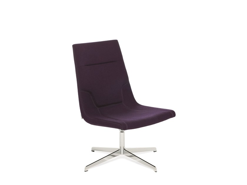 Swivel reception chair with 4-spoke base ELLE 65 | Chair with 4-spoke base - Emmegi