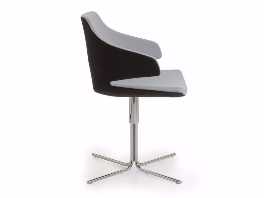 Sedia in tessuto a 4 razze ad altezza regolabile con braccioli MERAVIGLIA | Sedia a 4 razze - Luxy
