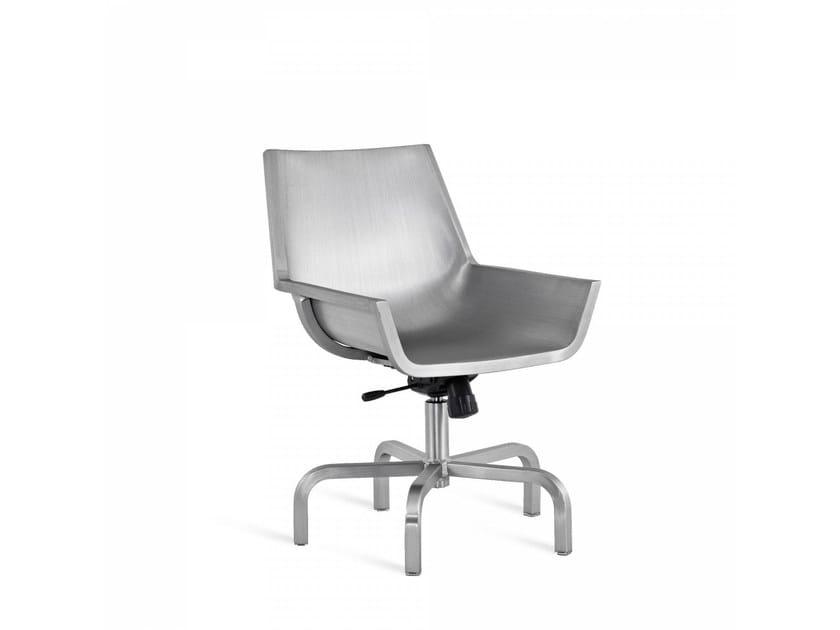 Sedia in alluminio a 5 razze SEZZ | Sedia a 5 razze - Emeco