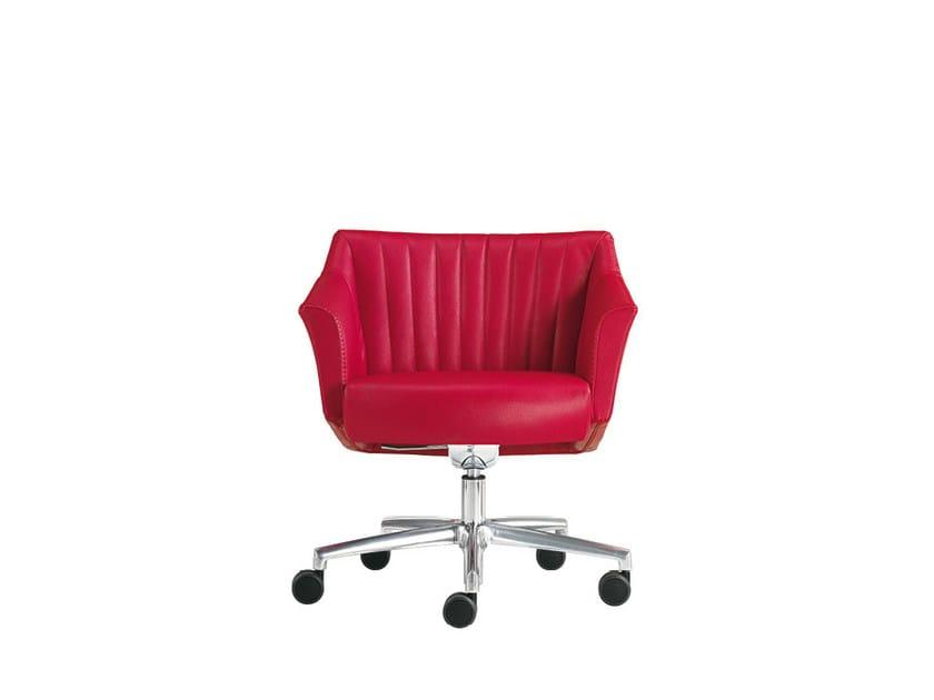 Reception chair with 5-spoke base DAMA STRIP | Chair with 5-spoke base - Sesta