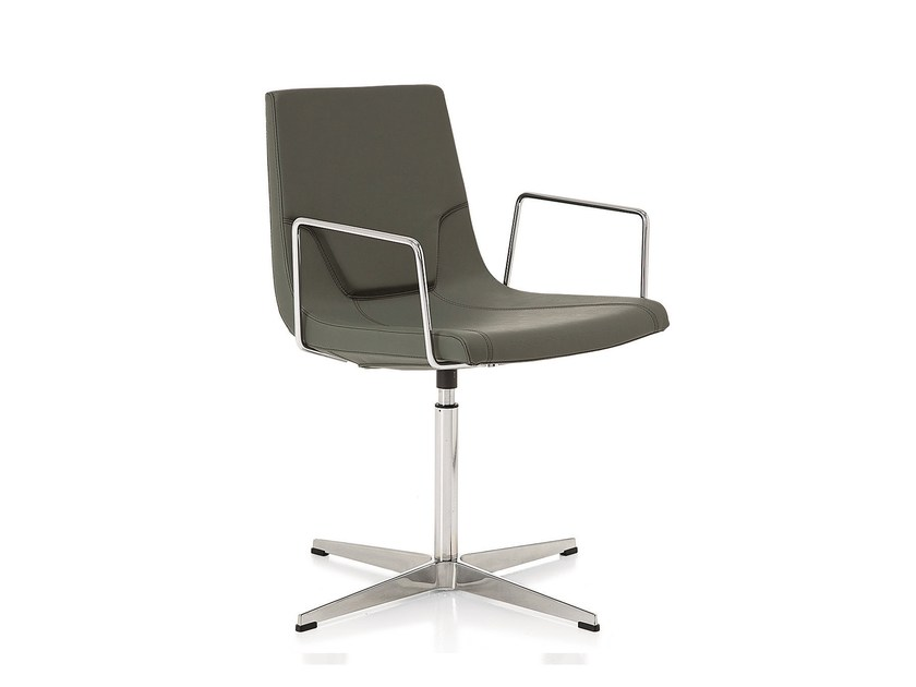 Swivel task chair with 4-Spoke base with armrests ELLE 48 | Task chair with 4-Spoke base by Emmegi
