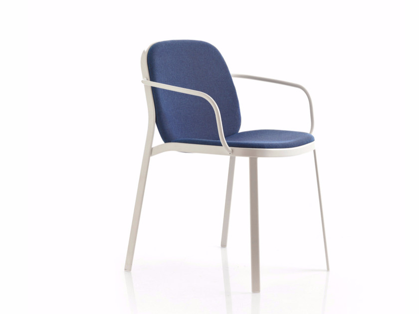 Fabric reception chair with armrests FLAP | Chair with armrests - Emmegi