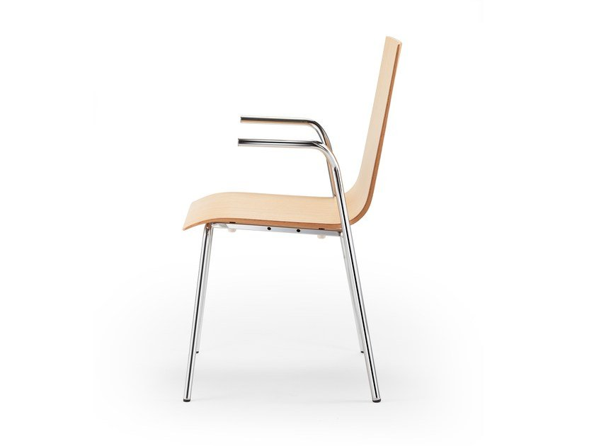 Stackable laminate chair with armrests GARCIA   Chair with armrests by rosconi